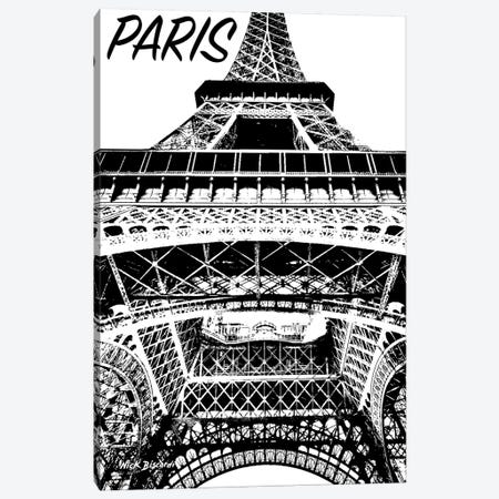 Modern Paris IV Canvas Print #NBI31} by Nicholas Biscardi Art Print