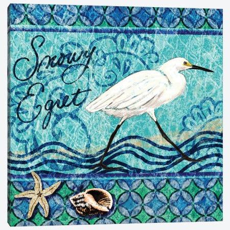 Snowy Egret Canvas Print #NBI36} by Nicholas Biscardi Canvas Wall Art