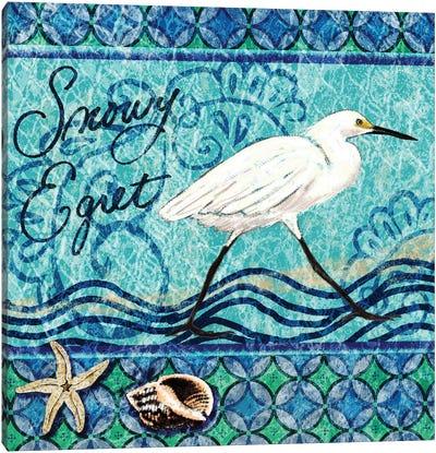 Snowy Egret Canvas Art Print