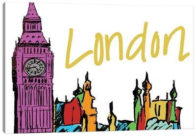 Vibrant London Canvas Art Print