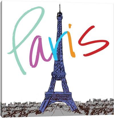 Vibrant Paris Canvas Art Print