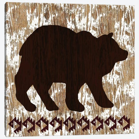 Wilderness Bear Canvas Print #NBI51} by Nicholas Biscardi Art Print