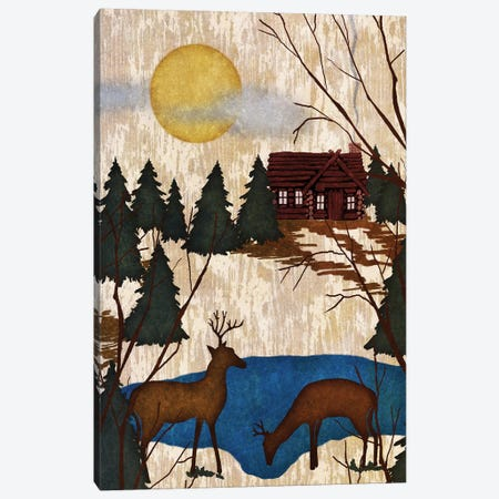 Cabin In The Woods I Canvas Print #NBI7} by Nicholas Biscardi Canvas Art