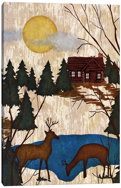 Cabin In The Woods I Canvas Art Print