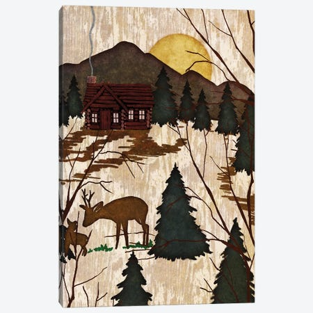 Cabin In The Woods II Canvas Print #NBI8} by Nicholas Biscardi Canvas Print