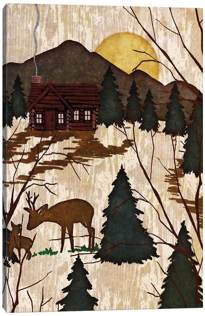 Cabin In The Woods II Canvas Art Print