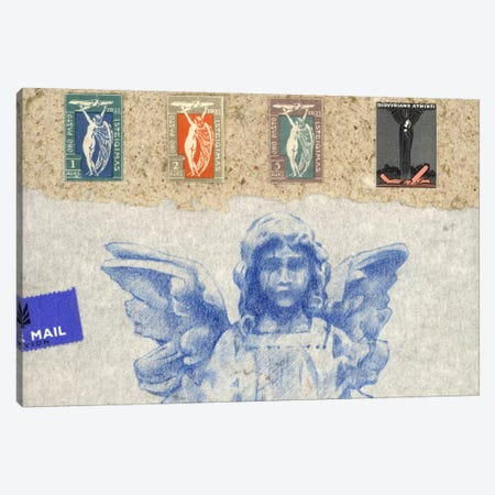 Blue Angel Canvas Print #NBK10} by Nick Bantock Canvas Print
