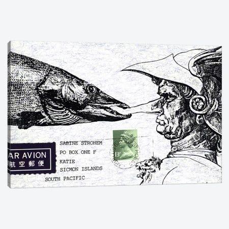 Fish Nose Canvas Print #NBK20} by Nick Bantock Canvas Artwork