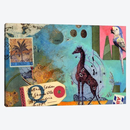 Giraffe Canvas Print #NBK22} by Nick Bantock Canvas Wall Art