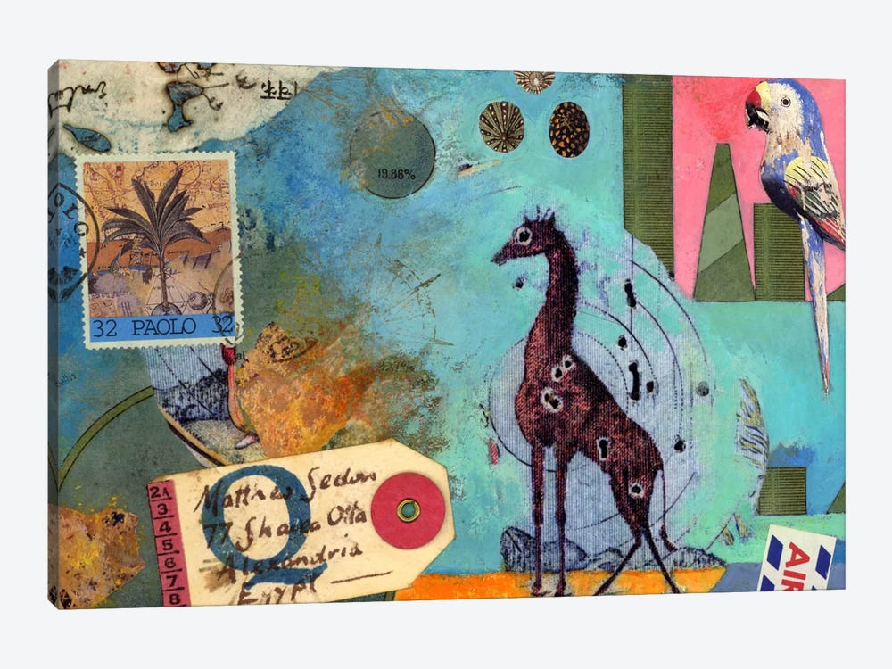 Giraffe by Nick Bantock 1-piece Canvas Artwork
