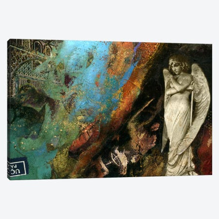 Green Angel Canvas Print #NBK23} by Nick Bantock Canvas Art