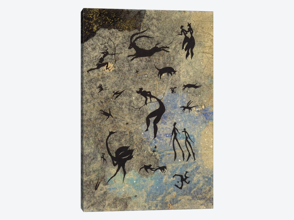 Handmade Petros by Nick Bantock 1-piece Canvas Wall Art