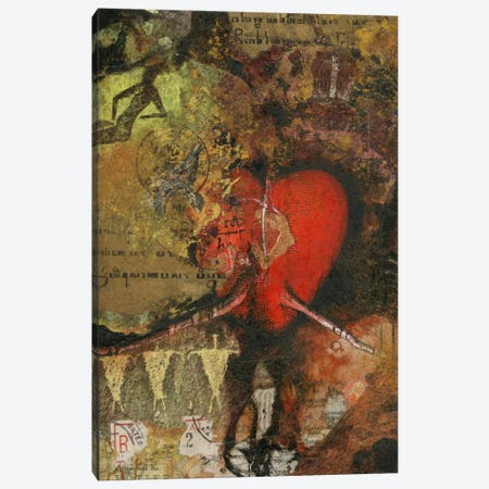 Heart Canvas Print #NBK27} by Nick Bantock Canvas Print