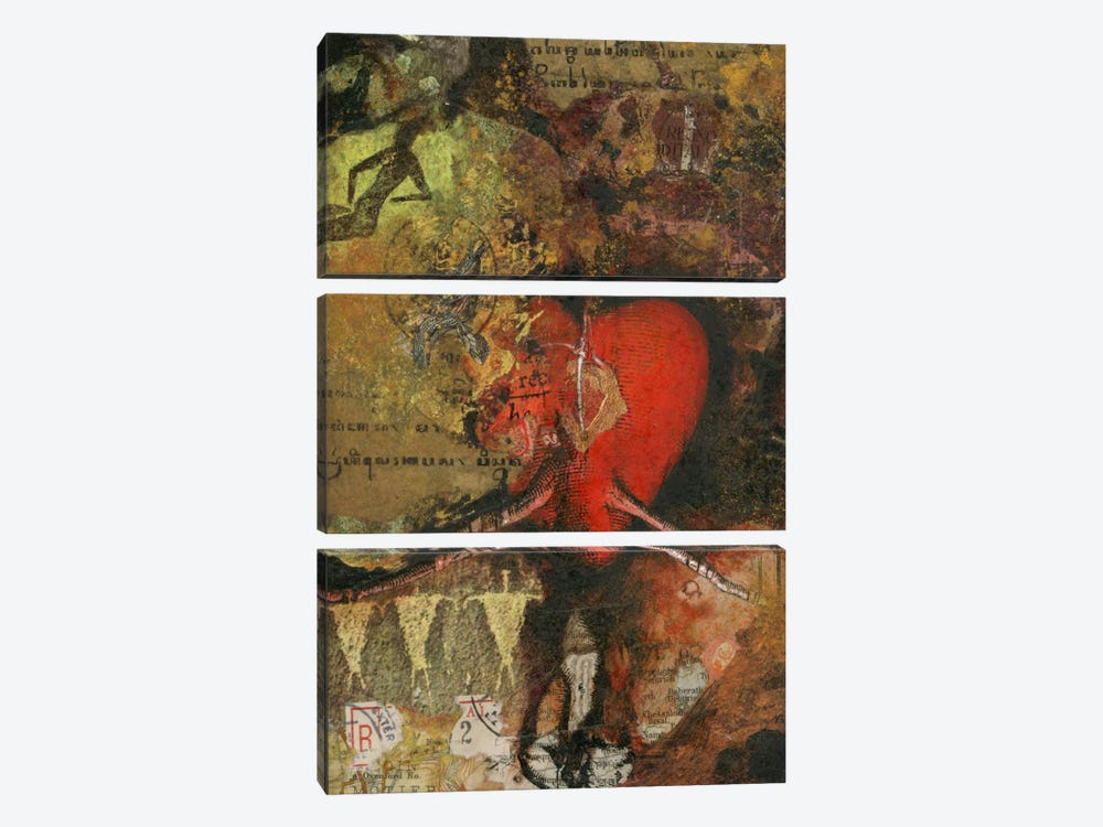 Heart by Nick Bantock 3-piece Art Print