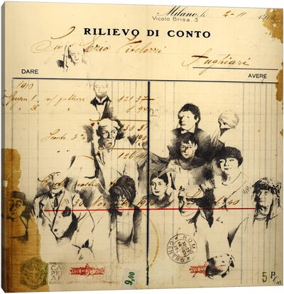 Italian Invoice Canvas Art Print
