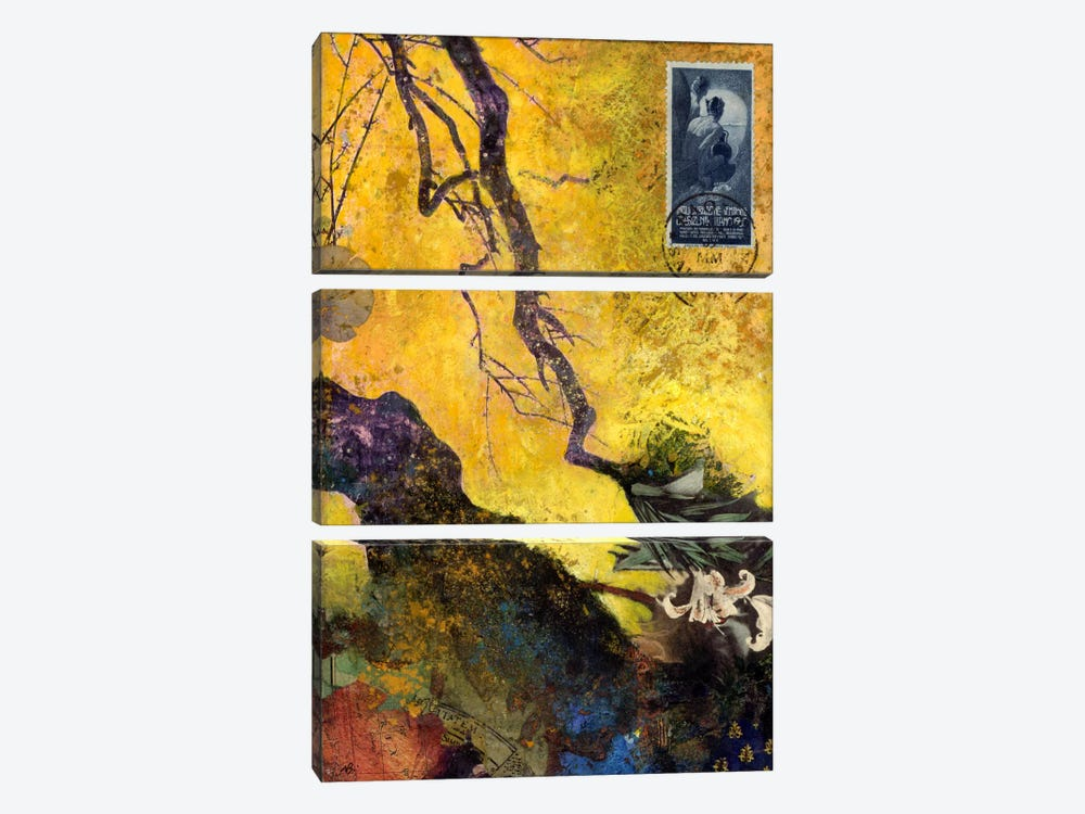 124 Golden Bough by Nick Bantock 3-piece Canvas Art