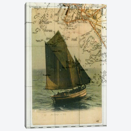 Jersey Sailboat Canvas Print #NBK31} by Nick Bantock Art Print