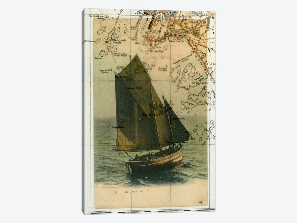 Jersey Sailboat by Nick Bantock 1-piece Canvas Art
