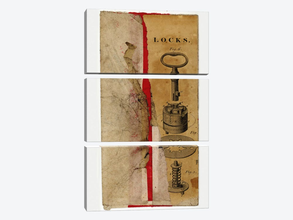 Locks Env by Nick Bantock 3-piece Canvas Print