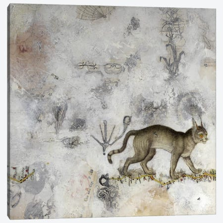 Lynx Canvas Print #NBK36} by Nick Bantock Canvas Artwork