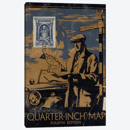 Mapman Canvas Print #NBK39} by Nick Bantock Art Print
