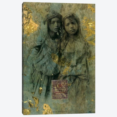 Mauresque Sisters Canvas Print #NBK41} by Nick Bantock Canvas Artwork