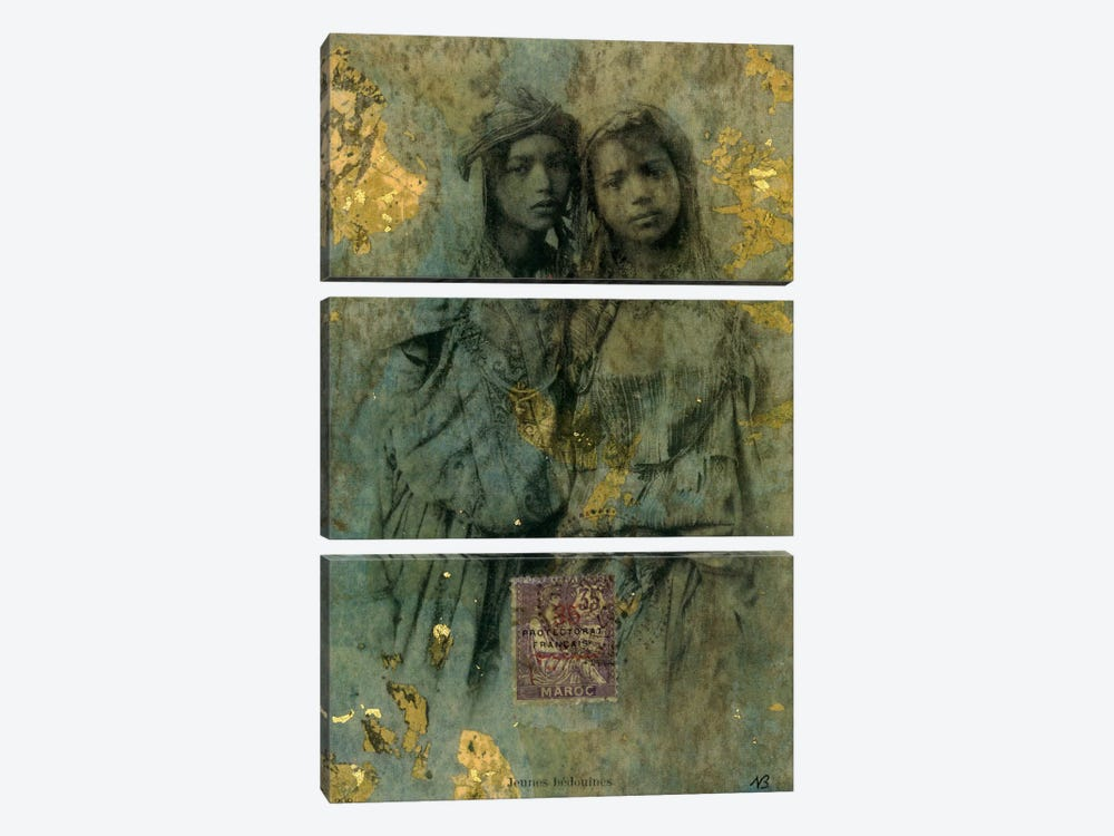 Mauresque Sisters by Nick Bantock 3-piece Canvas Print