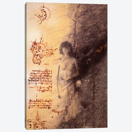 Missing Leonardo Canvas Print #NBK43} by Nick Bantock Canvas Art