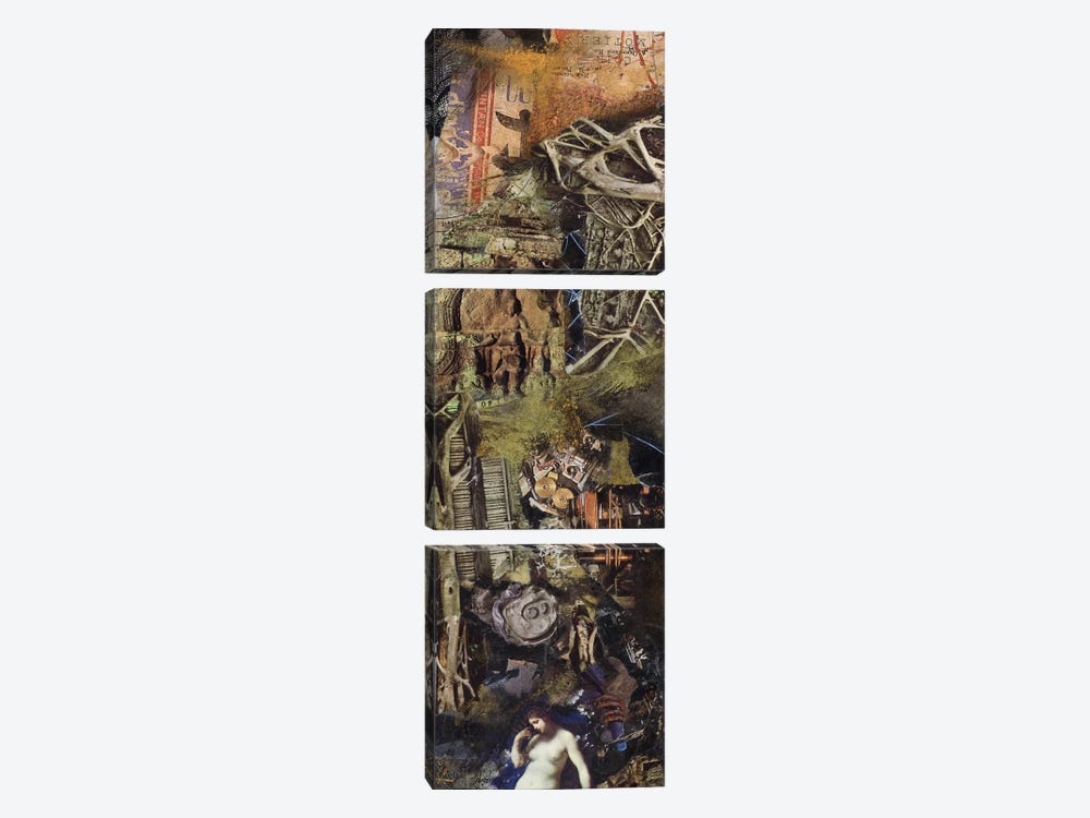 Paleskin Roots by Nick Bantock 3-piece Canvas Art Print