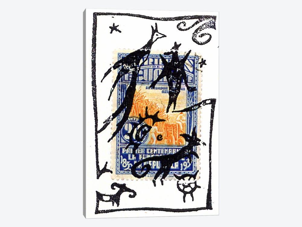 Pelicos Stamp by Nick Bantock 1-piece Art Print