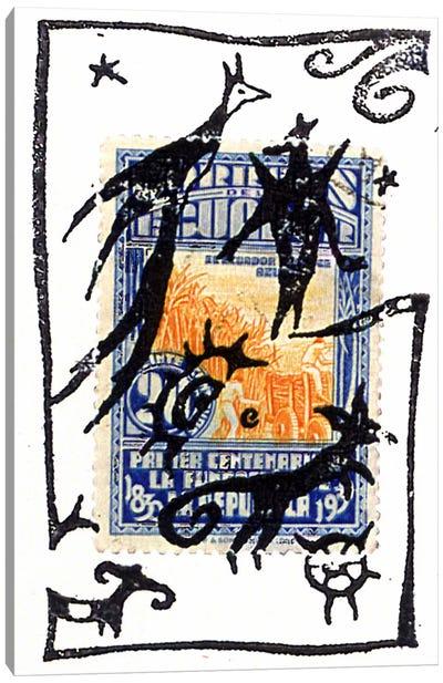 Pelicos Stamp Canvas Art Print