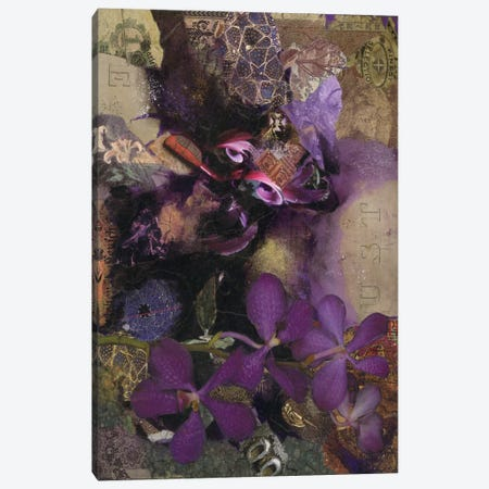 Purple Botanical Canvas Print #NBK53} by Nick Bantock Canvas Art Print