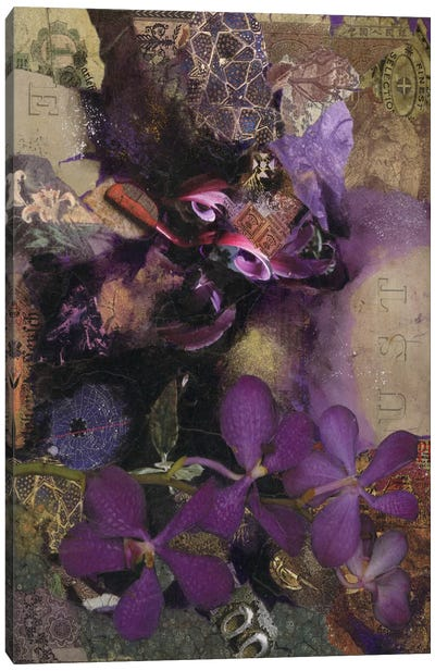 Purple Botanical Canvas Art Print