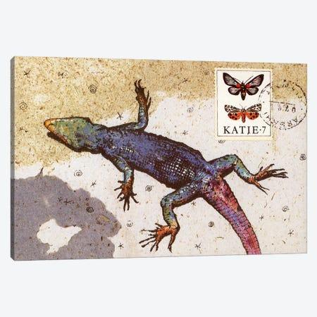 Rainbow Lizard Canvas Print #NBK54} by Nick Bantock Canvas Wall Art