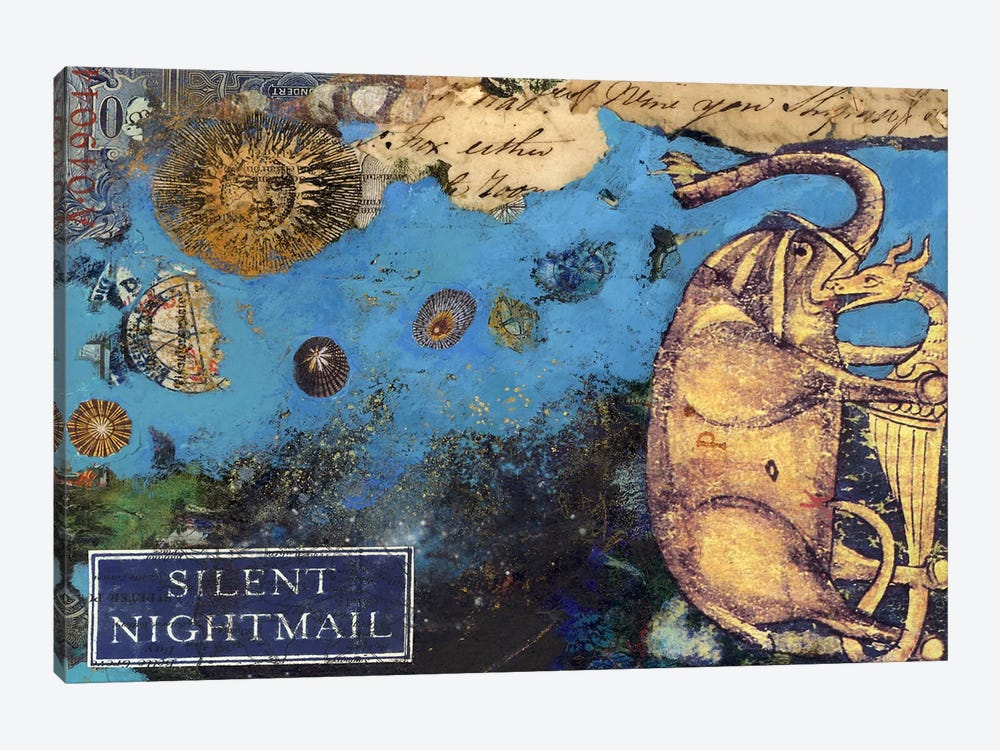 Silent Nightmail by Nick Bantock 1-piece Canvas Art Print