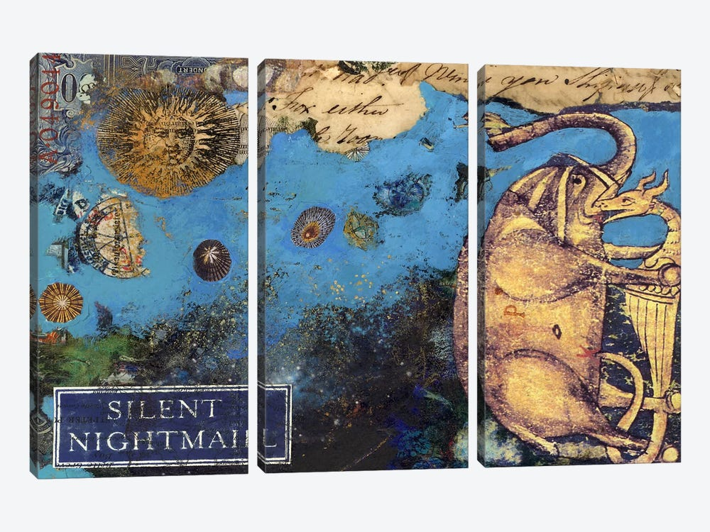 Silent Nightmail by Nick Bantock 3-piece Canvas Art Print