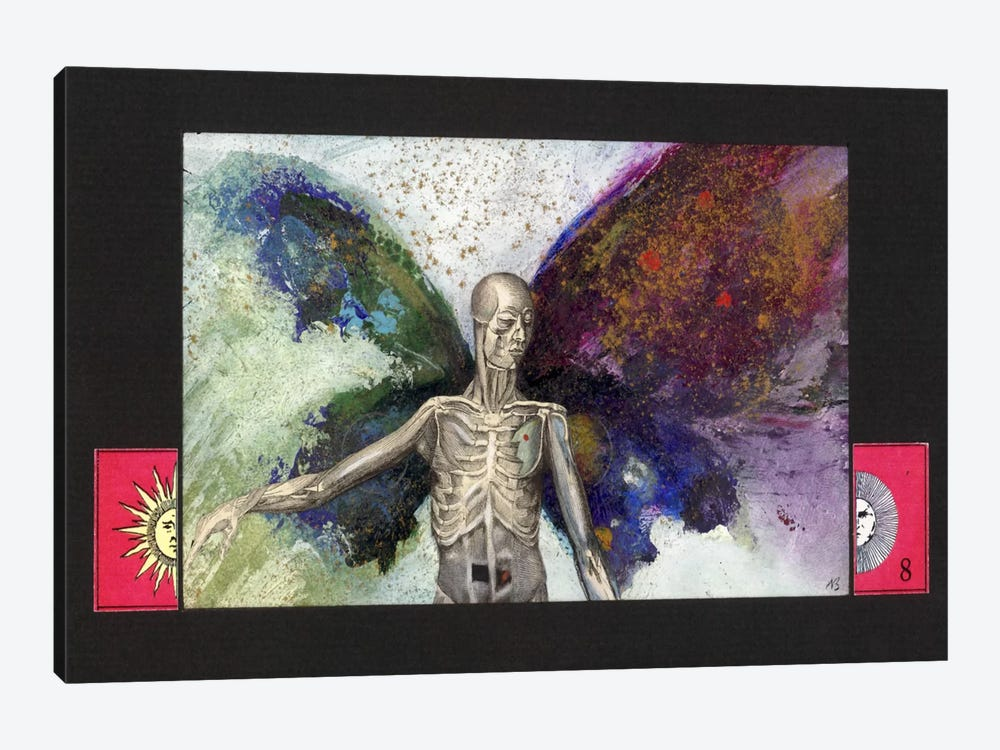 Skeleton by Nick Bantock 1-piece Canvas Artwork