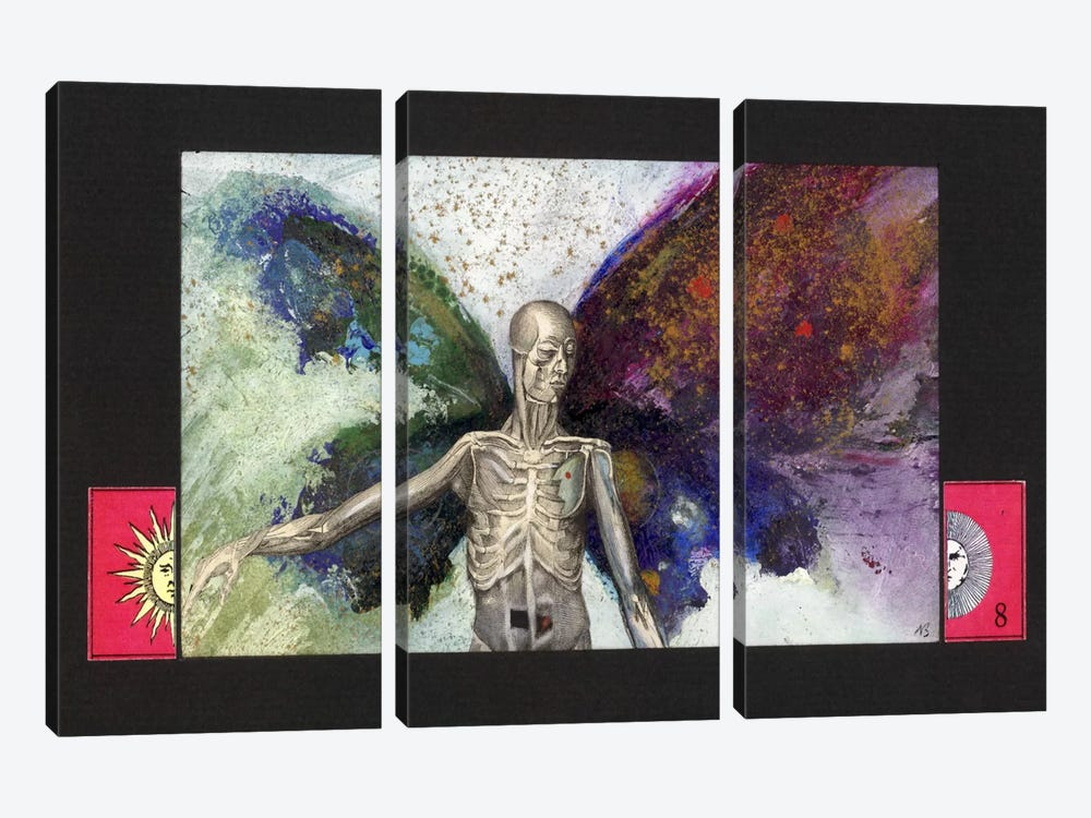 Skeleton by Nick Bantock 3-piece Canvas Wall Art