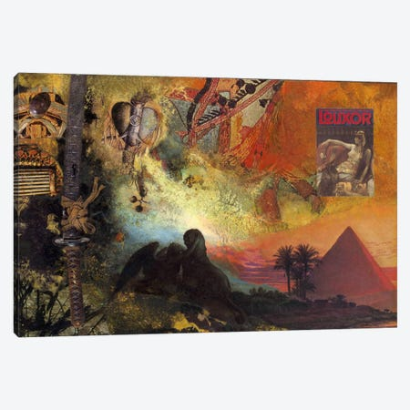Alexandria Canvas Print #NBK5} by Nick Bantock Canvas Wall Art
