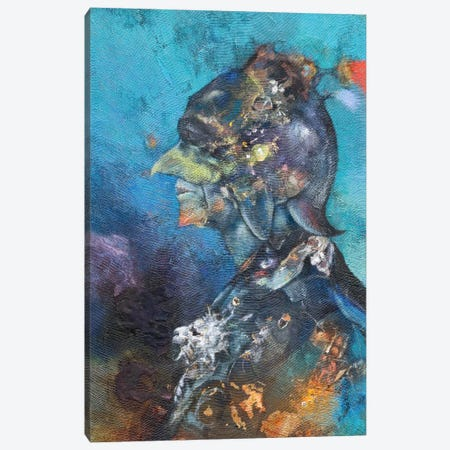 The Green Man Canvas Print #NBK60} by Nick Bantock Canvas Wall Art