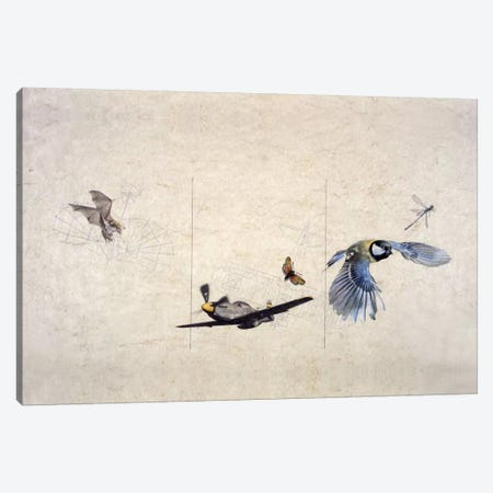 Wings Canvas Print #NBK64} by Nick Bantock Art Print