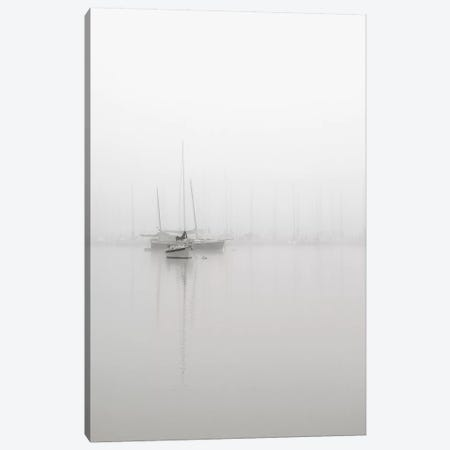 Sailboats In Fog Canvas Print #NBP8} by Nicholas Bell Photography Art Print
