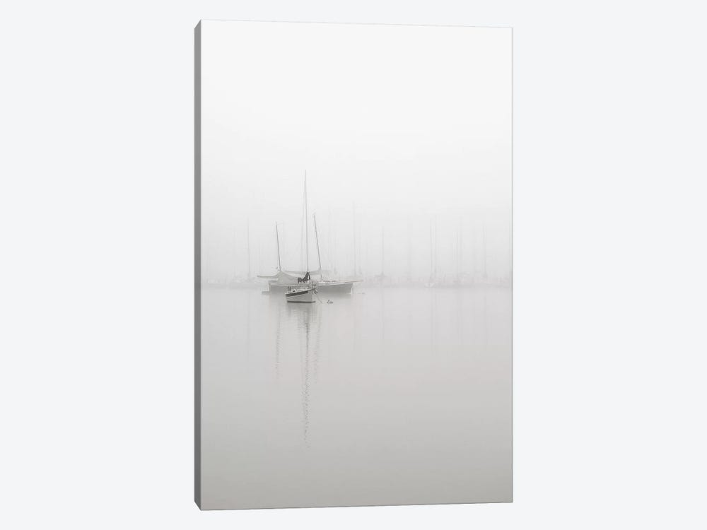 Sailboats In Fog by Nicholas Bell Photography 1-piece Canvas Art Print