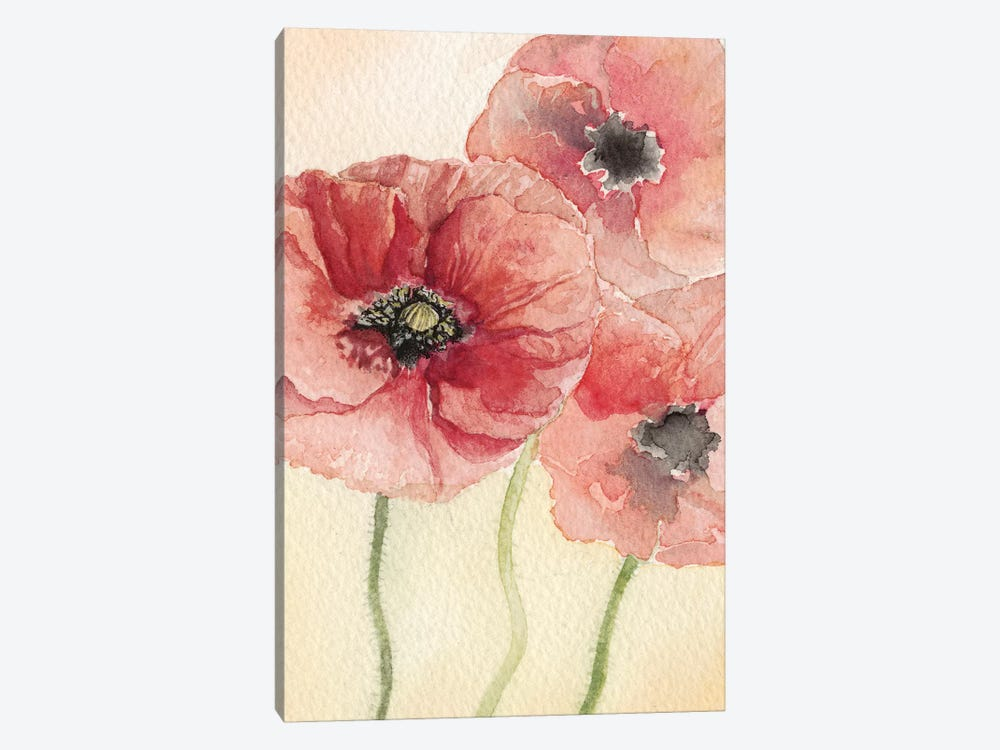 Poppy Composition I by Natasha Chabot 1-piece Canvas Art Print