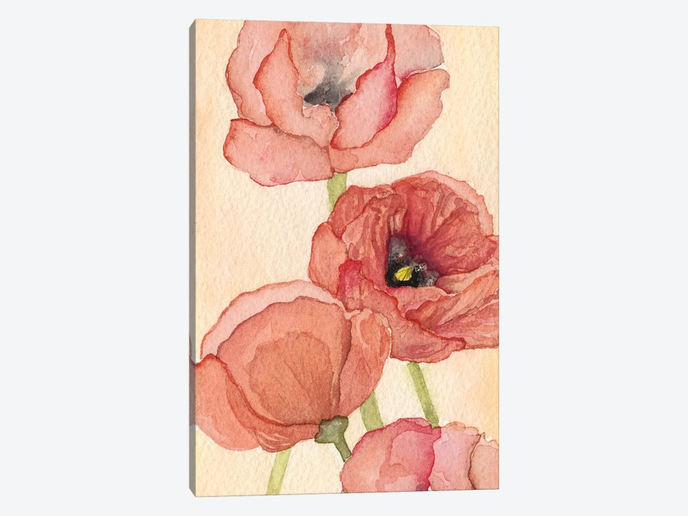 Poppy Composition II by Natasha Chabot 1-piece Canvas Wall Art