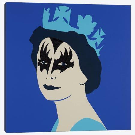 Kissed Blue Canvas Print #NCL24} by Jana Nicole Art Print