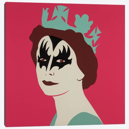 Kissed Pink Canvas Print #NCL25} by Jana Nicole Art Print