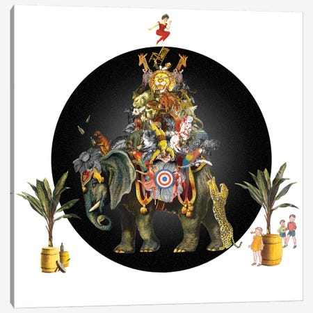 Cirque Des Enfants: Elephant In The Room Canvas Print #NCL37} by Jana Nicole Canvas Art