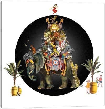 Cirque Des Enfants: Elephant In The Room Canvas Art Print