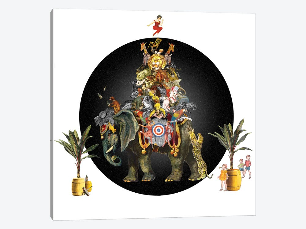 Cirque Des Enfants: Elephant In The Room by Jana Nicole 1-piece Canvas Print